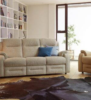 90851_Boston Three Seater in Euphoria Duck Egg and Chair in Como Butterscotch
