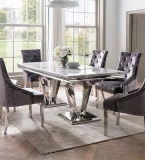 Venezia 160cm Table + 6 Chairs