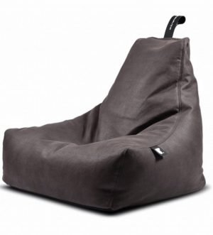 Mighty B Faux Leather Bean Bag in Slate