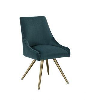 Amy Teal Velvet Dining Chair