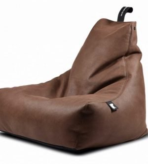 Mighty B Faux Leather Bean Bag in Chestnut