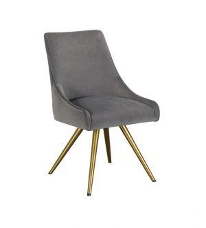 Amy Grey Velvet Dining Chair